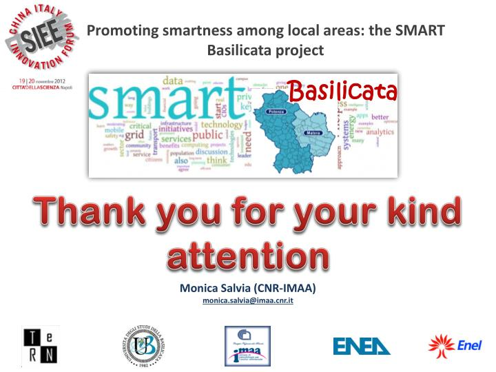 Promoting smartness among local areas: the SMART Basilicata project