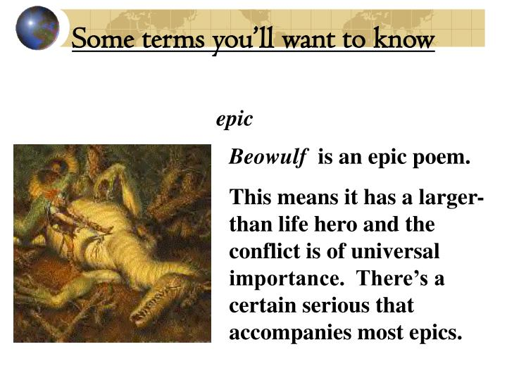 epic poem beowulf qualities of a