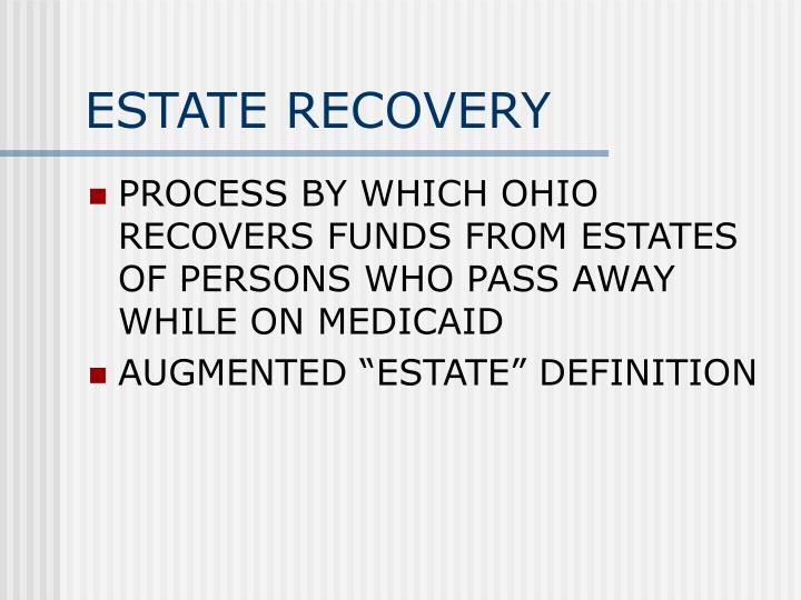 ESTATE RECOVERY
