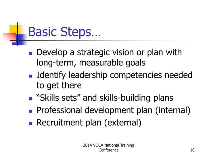 Basic Steps…