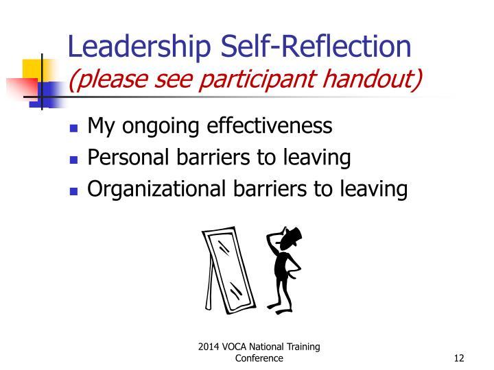 Leadership Self-Reflection