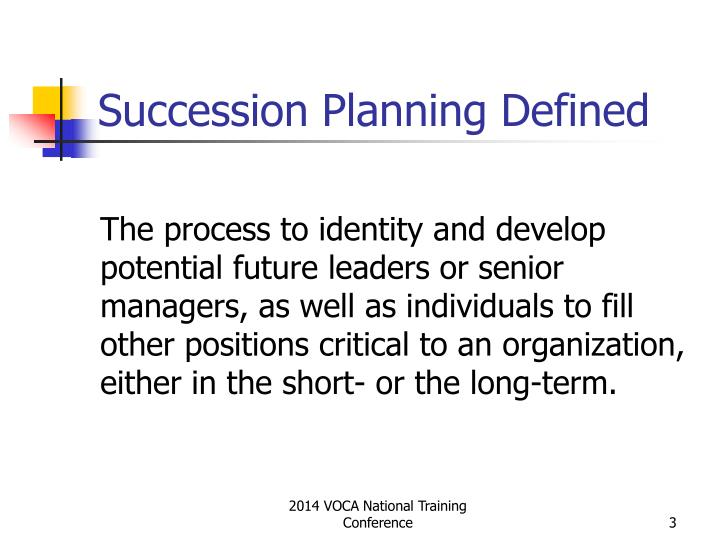 Succession planning defined