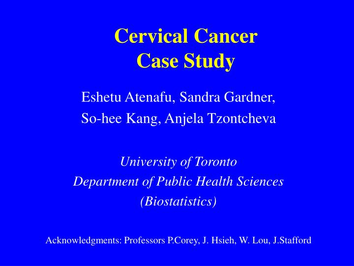 case study cancer patient This case study was conducted in order to further understand the distinctive characteristics of prostate cancer and its signs and symptoms the focus is on an elderly patient with stage 4 prostate cancer.