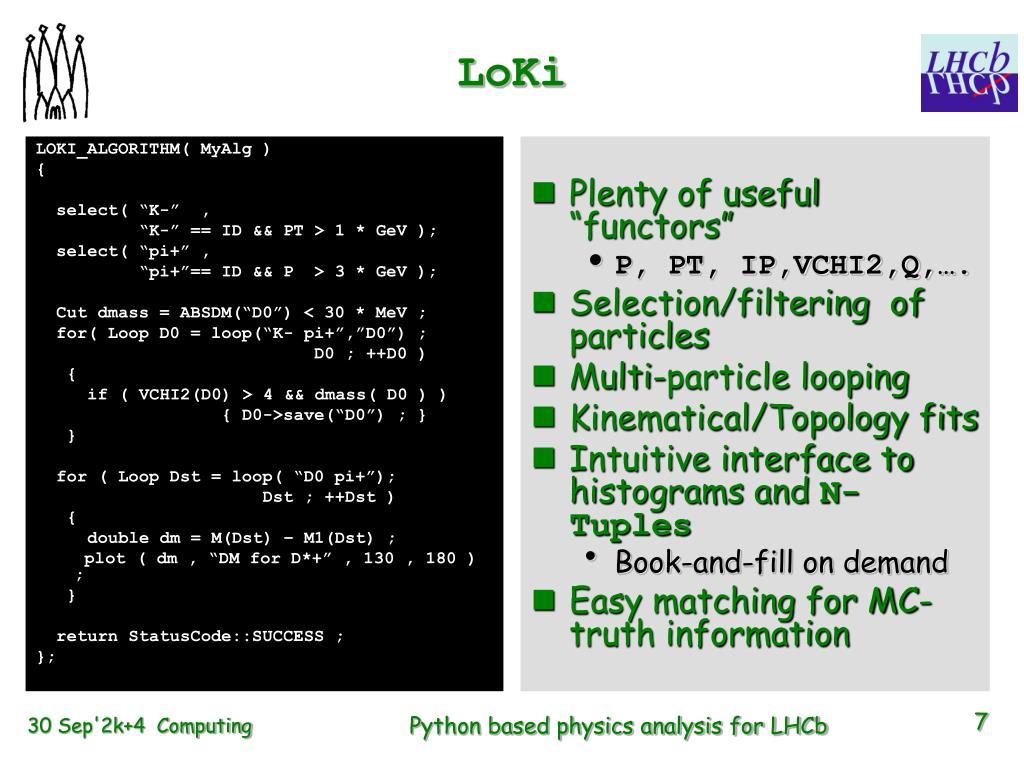 PPT - Python -based Physics Analysis Environment for LHCb