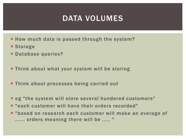 Data volumes