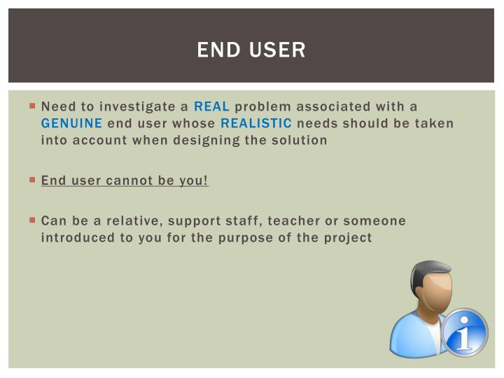 End user