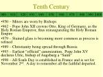 tenth century