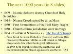 the next 1000 years in 8 slides