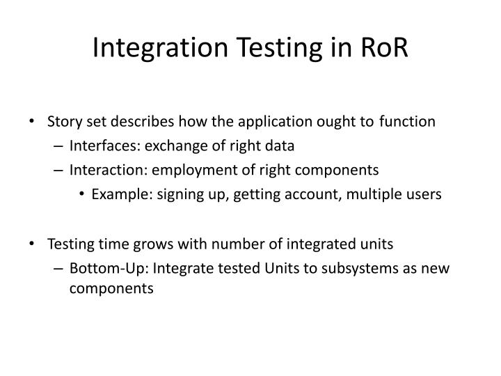 Integration Testing in RoR