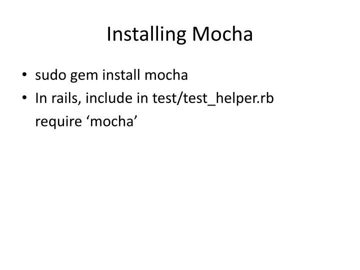 Installing Mocha
