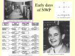 early days of nwp