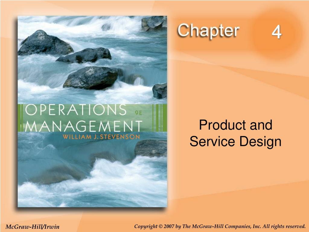 Product and service design in operations management ppt.