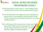 social work exchange programme cont