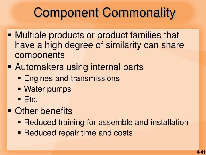 Component Commonality