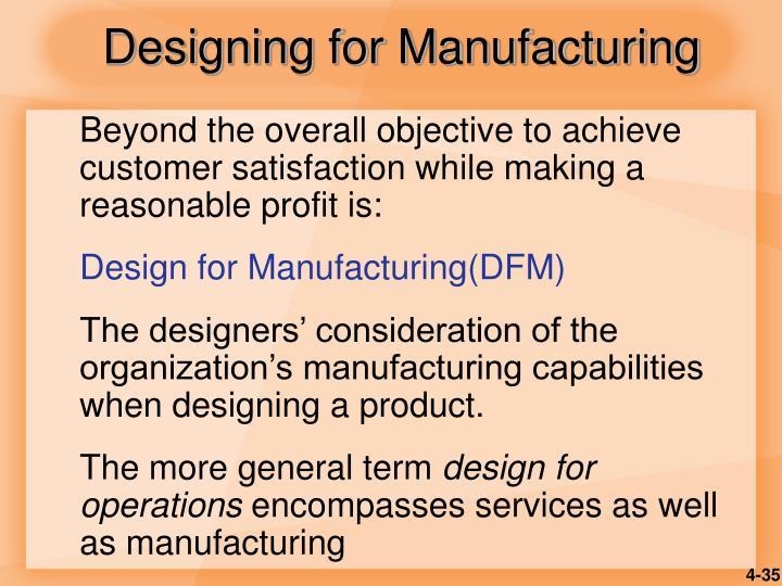 Designing for Manufacturing