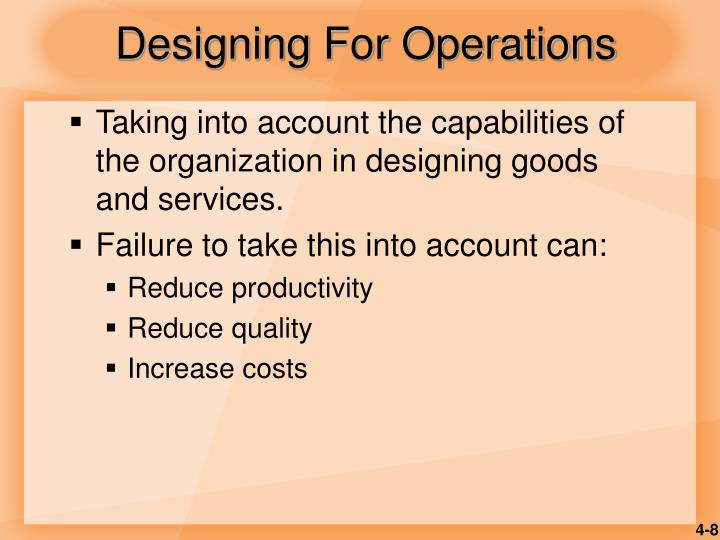 Designing For Operations