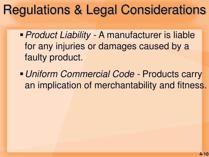 Regulations & Legal Considerations
