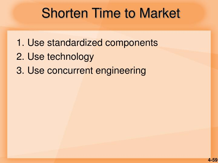 Shorten Time to Market