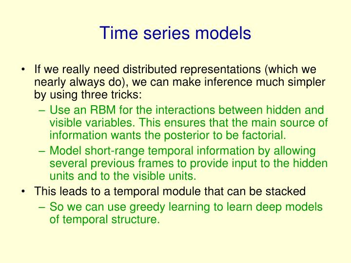 Time series models