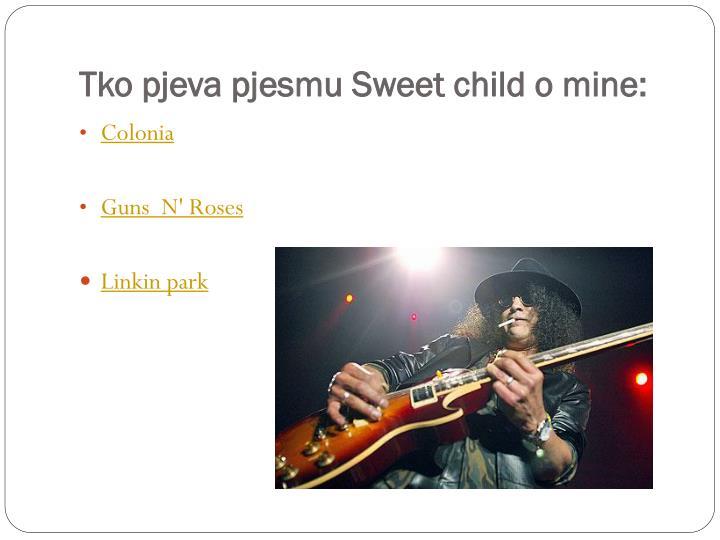 Tko pjeva pjesmu sweet child o mine
