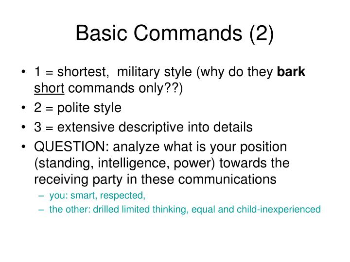 Basic Commands (2)