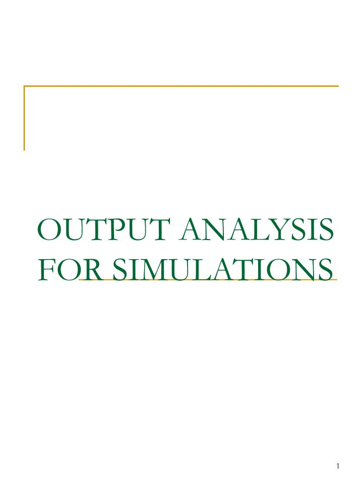 output analysis for simulations n.
