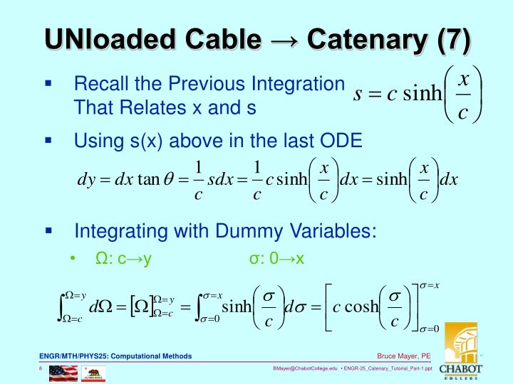 UNloaded Cable → Catenary (7)