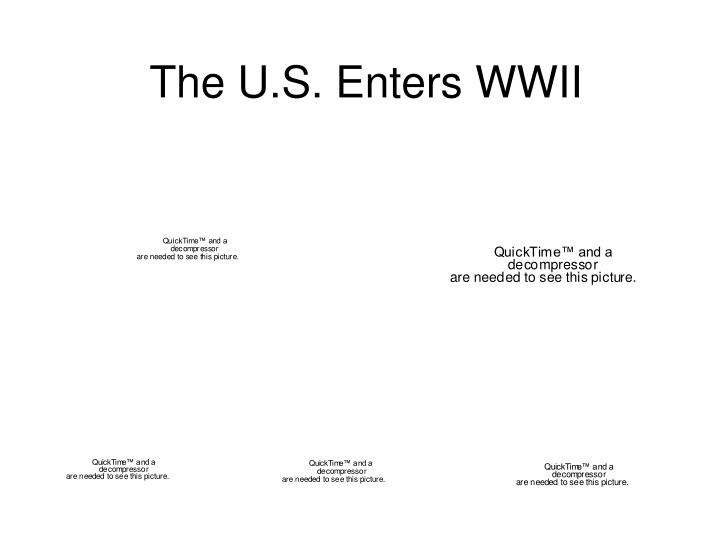 The u s enters wwii