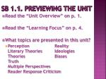 sb 1 1 previewing the unit1