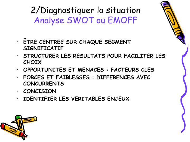2 diagnostiquer la situation analyse swot ou emoff