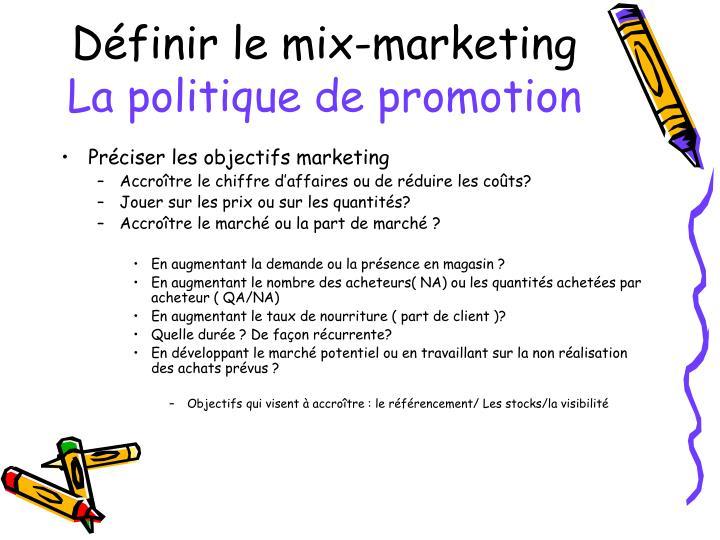 Définir le mix-marketing