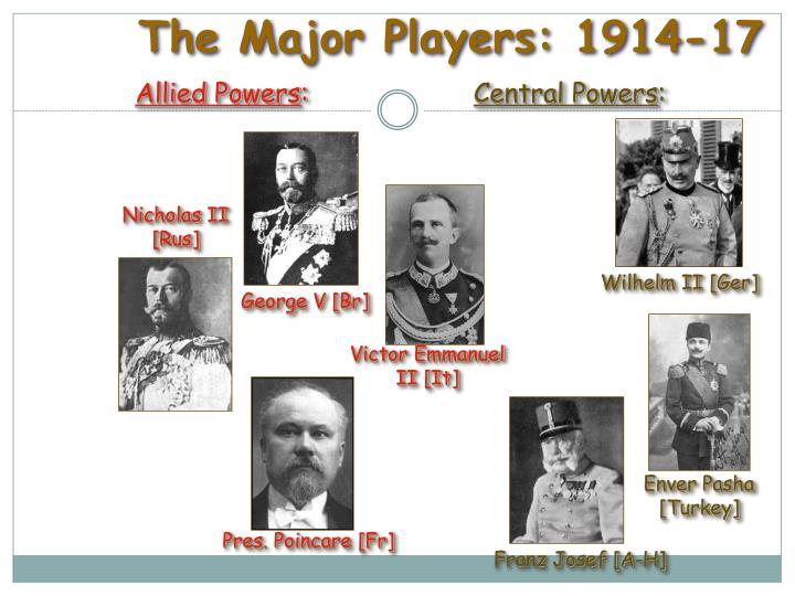 The Major Players: 1914-17