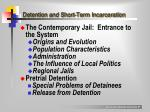 detention and short term incarceration
