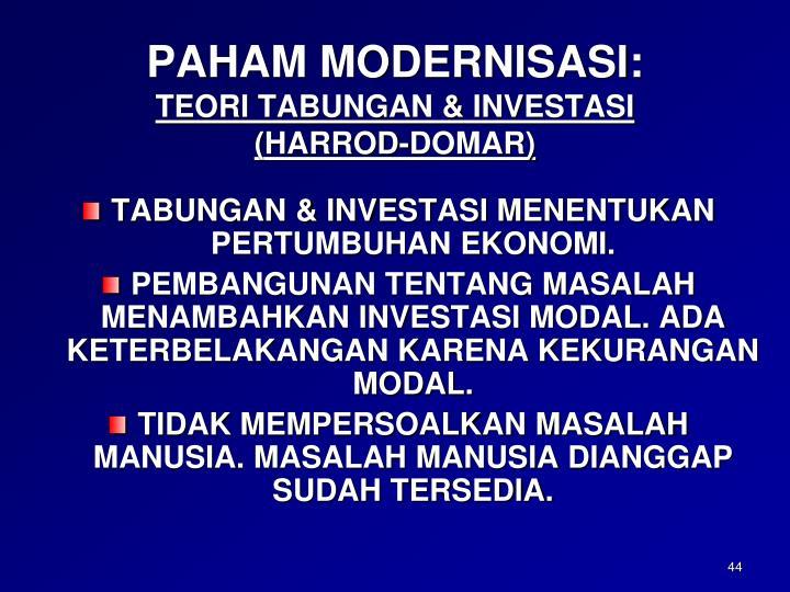 PAHAM MODERNISASI: