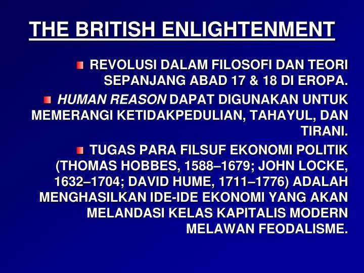 THE BRITISH ENLIGHTENMENT
