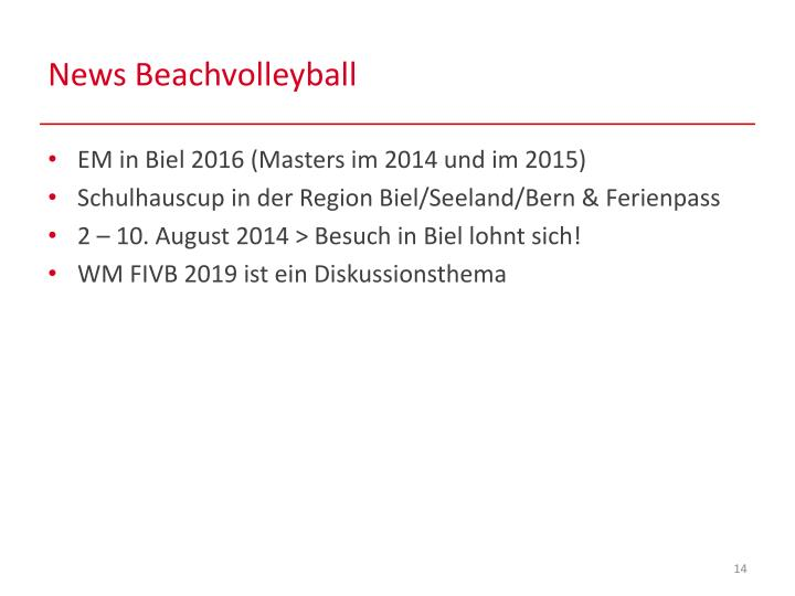 News Beachvolleyball