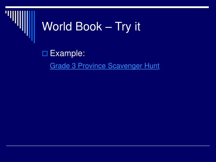 World Book – Try it