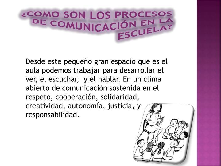 Como son los procesos de comunicaci n en la escuela