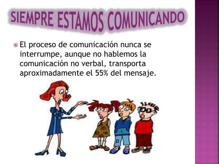 SIEMPRE ESTAMOS COMUNICANDO
