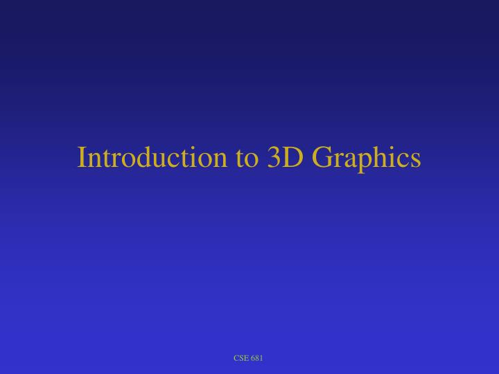 introduction to 3d graphics n.