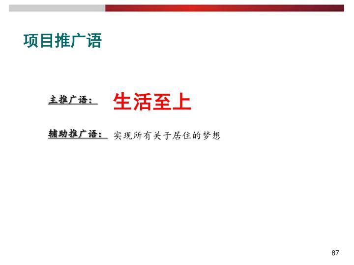 项目推广语