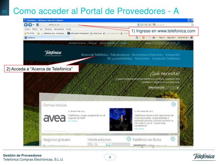 Como acceder al Portal de Proveedores - A
