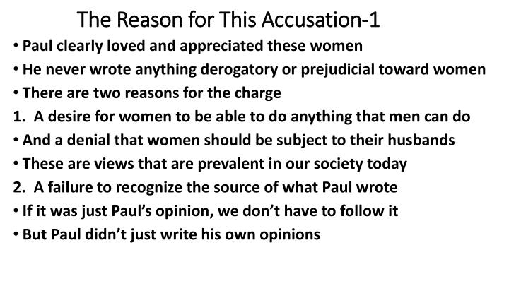 The Reason for This Accusation-1