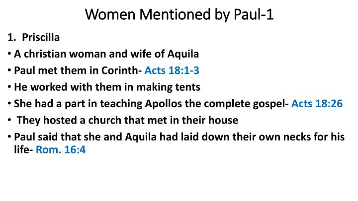 Women Mentioned by Paul-1