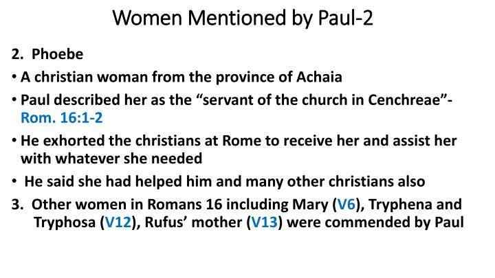 Women Mentioned by Paul-2