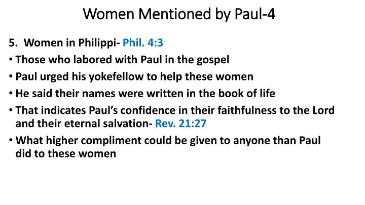 Women Mentioned by Paul-4