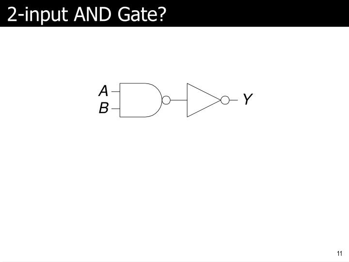 2-input AND Gate?