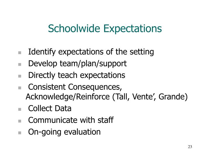 Schoolwide Expectations