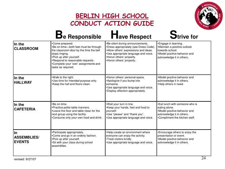 BERLIN HIGH SCHOOL