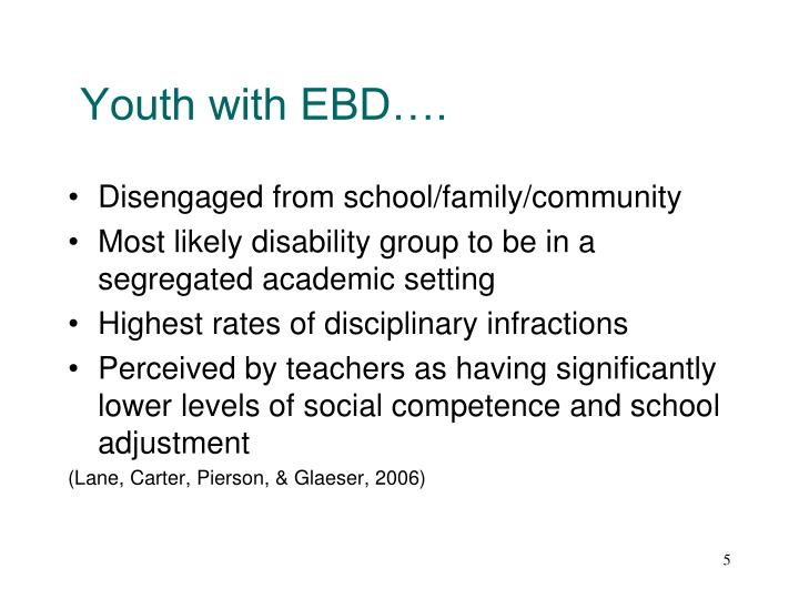 Youth with EBD….